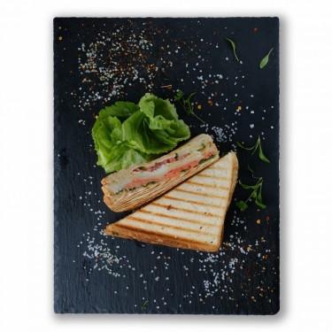 """Клаб сендвич """"Цезарь"""" с семгой"""